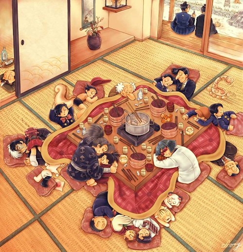 La mesa camilla muebles modesto for Mesa japonesa tradicional