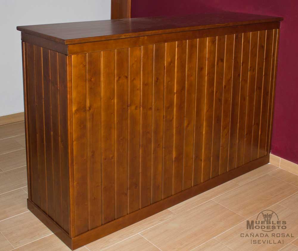 Barra bar lamas madera