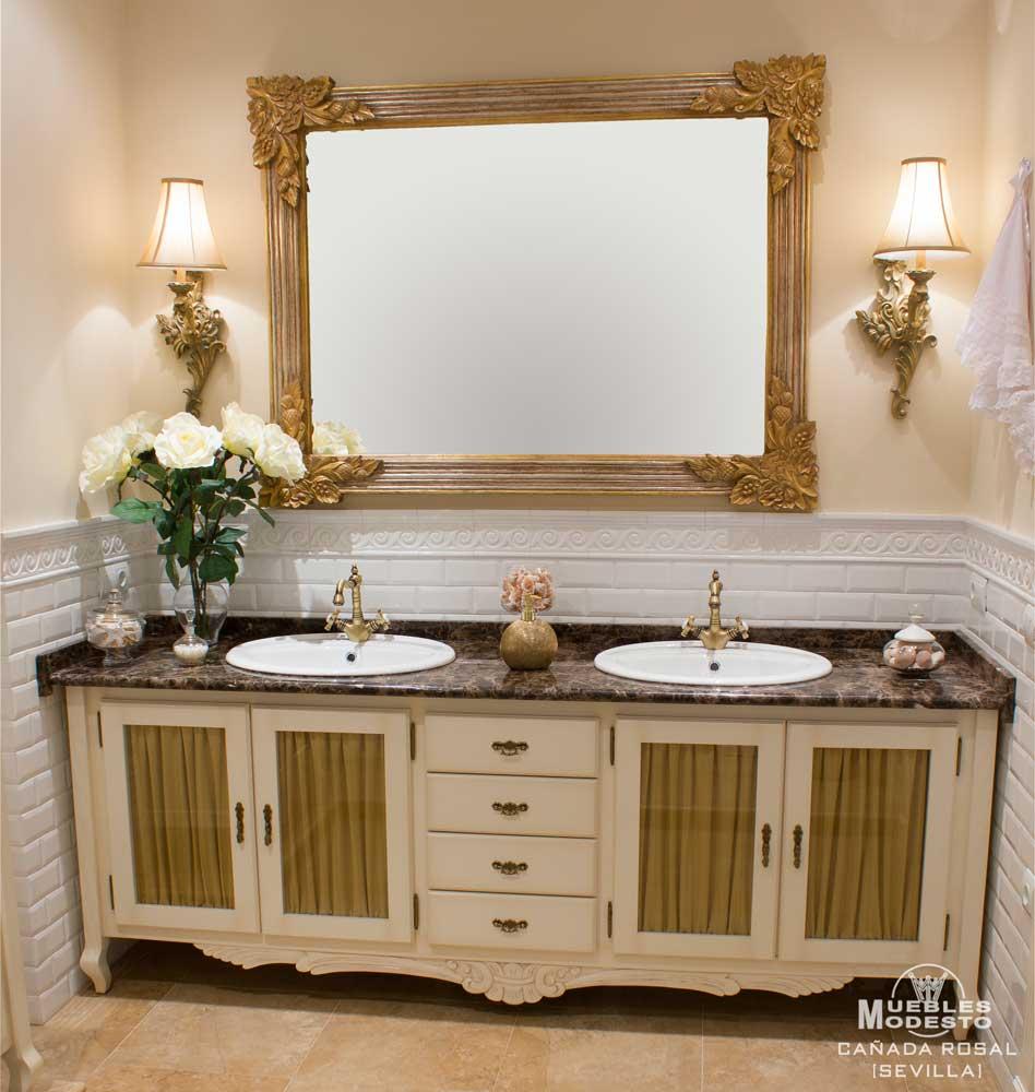 Muebles de ba o muebles modesto - Muebles de bano con dos lavabos ...