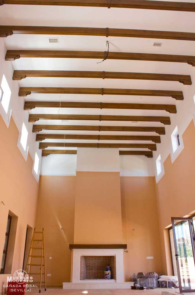 Vigas techos y p rgolas muebles modesto - Vigas madera techo ...