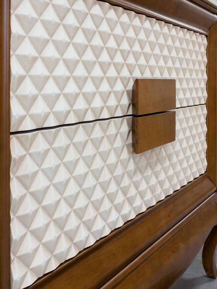 Tirador mueble baño madera diamante