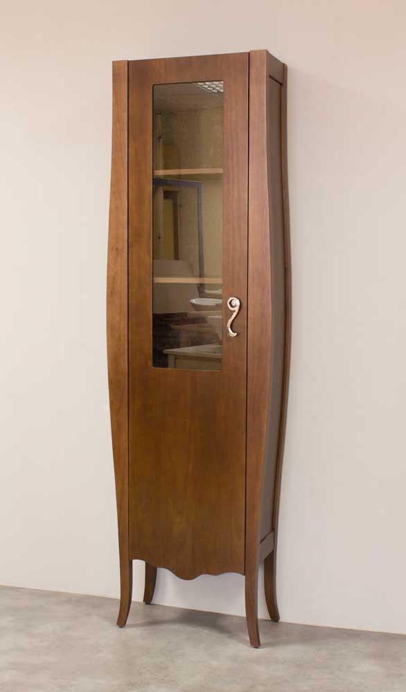Auxiliar vitrina alta para muebles de baño vintage