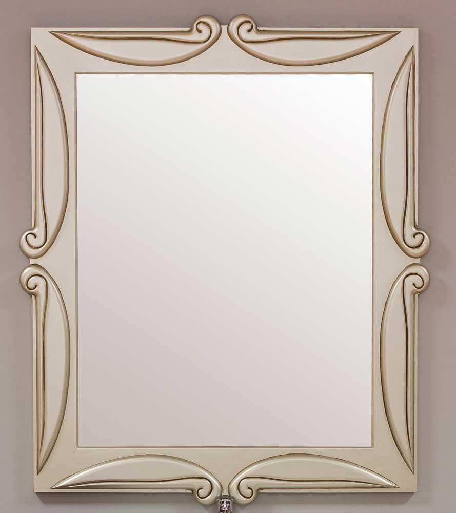 Espejo de madera maciza tallado a mano