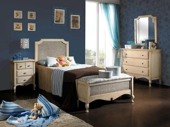 Dormitorios isabelinos neocl sicos vintage y retro - Dormitorios vintage blanco ...