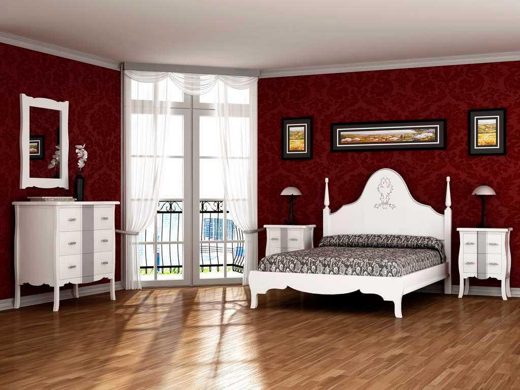Dormitorios isabelinos neocl sicos vintage y retro for Dormitorio vintage blanco