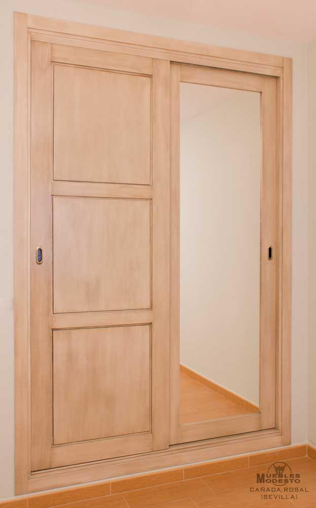 Espejos para armarios empotrados top stunning armarios for Espejo blanco envejecido