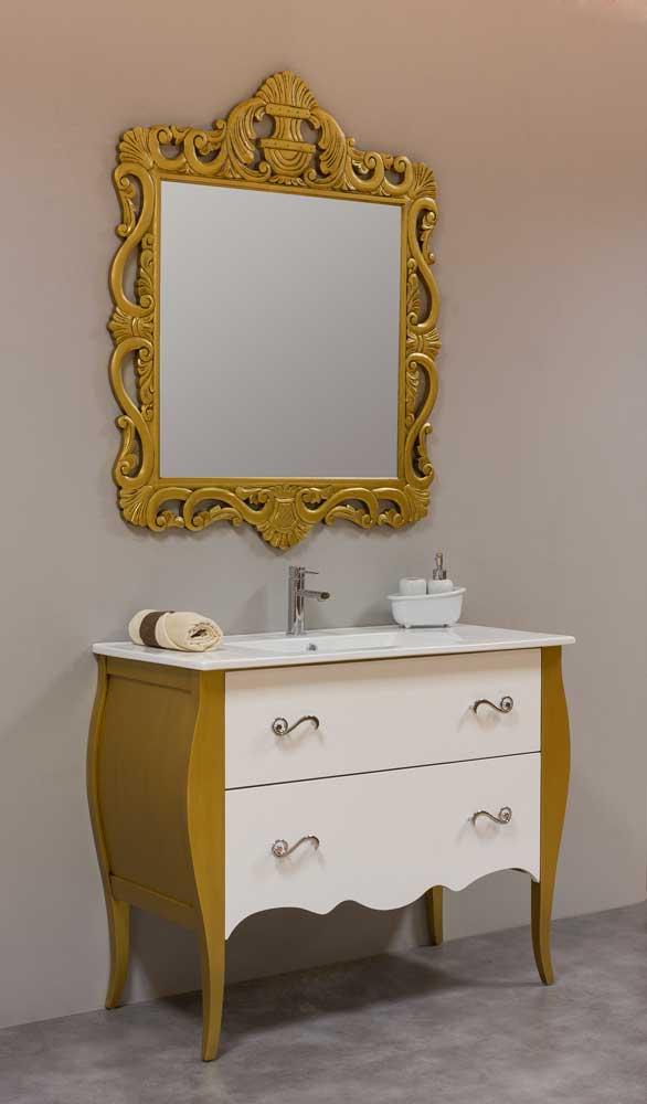 Mueble bano vintage oro bronce envejecido