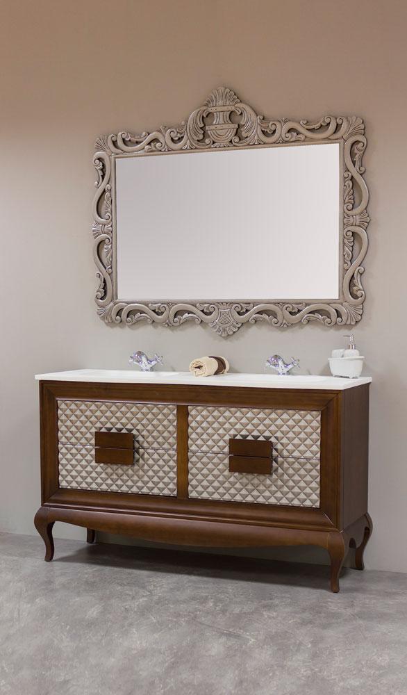 Muebles de ba o vintage muebles de ba o isabelinos for Espejo madera envejecida