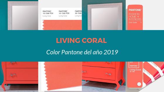 Nuestros muebles de baño en color Living Coral, color del año 2019 según Pantone