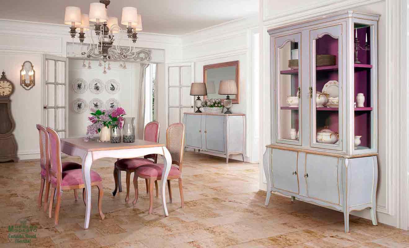salon neoclasico madera blanco