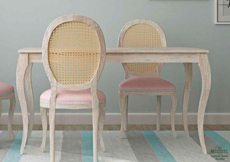 mesa madera patas isabelinas