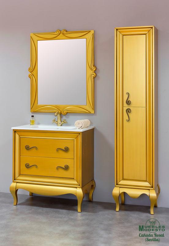 Mueble-bano-vintage-oro-envejecido