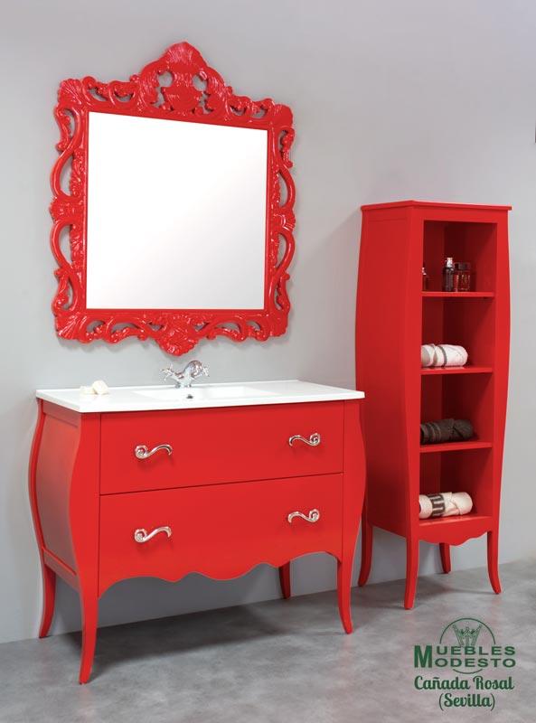 Mueble-bano-vintage-rojo-ferrari-color-especial-carta-RAL-NCS-PANTONE-
